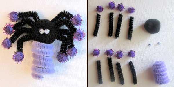 Halloween Spider Finger Puppet Craft