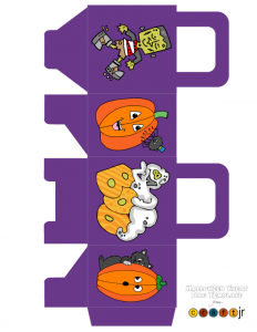 Cute Purple Halloween Treat Bag