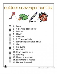 image regarding Outdoor Scavenger Hunt Printable known as Scavenger Hunt Options Woo! Jr. Little ones Actions