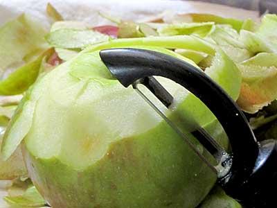 Peeling Apples for Applesauce