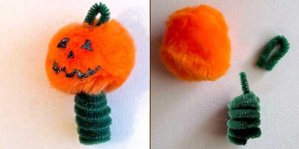 Halloween Pumpkin Finger Puppet Craft