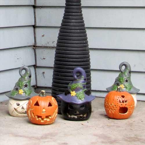 Mini Funkins Pumpkin Display