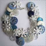 Beaded Snowflake Bracelet