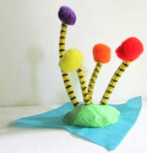 The Lorax's Truffula Trees Craft