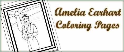 Amelia Earhart Coloring Lat Woo Jr Kids Activities