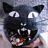 Paper Mache Cat Candy Bowl