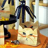 Cat Halloween Treat Bags