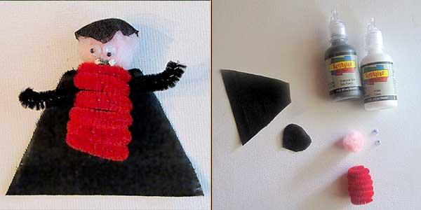 Dracula Finger Puppet