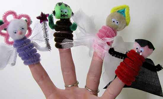 Halloween Costume Finger Puppets