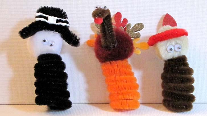 Easy Thanksgiving Kids Craft - Finger Puppets