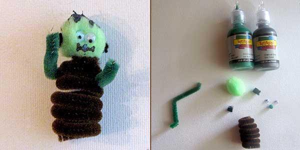 Frankenstein Finger Puppet
