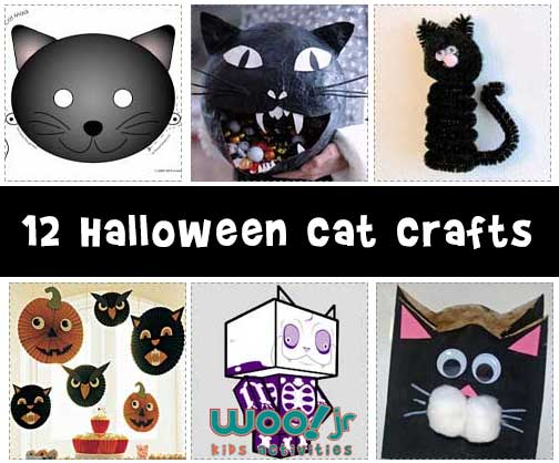 Black cat halloween crafts for kids woo jr kids activities for Cat crafts for toddlers