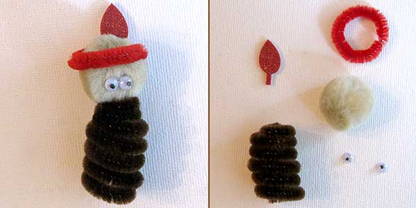Thanksgiving Indian Finger Puppet