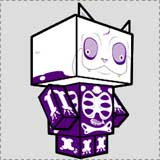 SkeleKitty Printable Halloween Craft