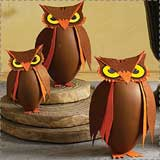 Paper Owl Treat Boxes