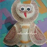 Fall Paper Plate Owls
