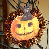 Vintage Halloween Cat Ornament