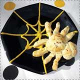 Spooky Spider Bread Rolls