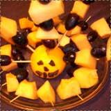 Jack O Lantern Fruit Kebabs