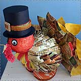 Thanksgiving Turkey Paper Sculpture