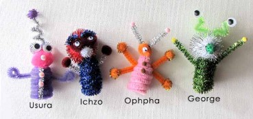 Easy Alien Pipe Cleaner Crafts