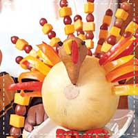 Fruit and Cheese Turkey Centerpiece