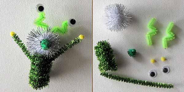 ZOMG George Alien Pipe Cleaner Craft