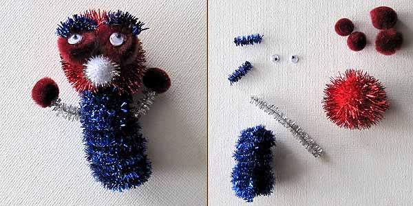Kitschy Ichzo Alien Pipe Cleaner Craft