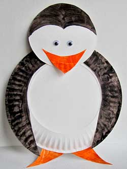 Paper Plate Penguin Preschool Craft