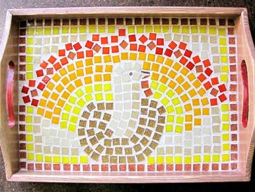 Thanksgiving Mosaic Platter Project