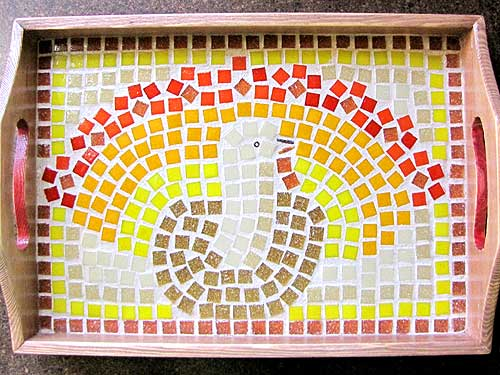 Thanksgiving Platter - Mosaic Pattern