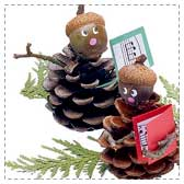 Pinecone Christmas Carolers