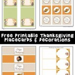 Printable Thanksgiving Placecards & Decorations