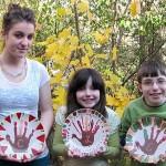 Handprint Keepsake Thanksgiving Plate Craft