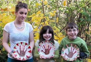Handprint Keepsake Thanksgiving Plate Craft