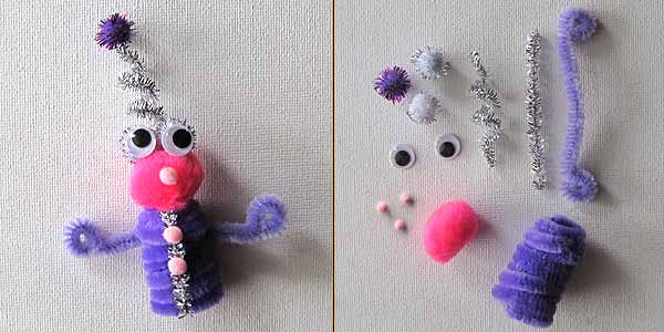 Girly Usura Alien Pipe Cleaner Finger Puppet