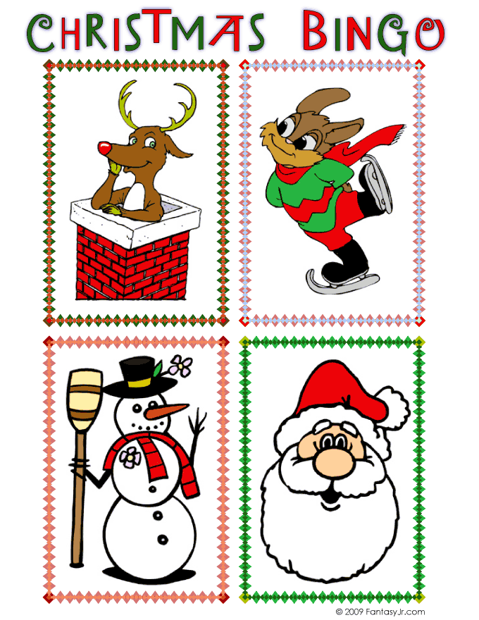 picture regarding Free Christmas Bingo Cards Printable referred to as Printable Xmas Bingo Video game Woo! Jr. Youngsters Functions
