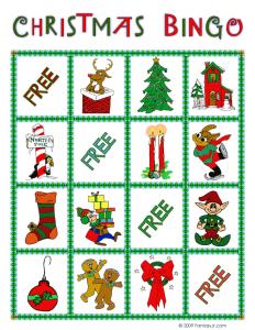 christmas bingo card 1 - Printable Christmas Bingo