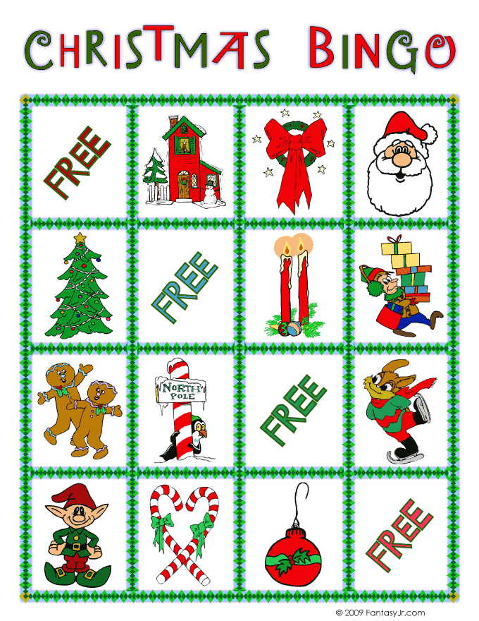 photograph relating to Christmas Bingo Card Printable called Xmas Bingo Card 10 Woo! Jr. Youngsters Things to do