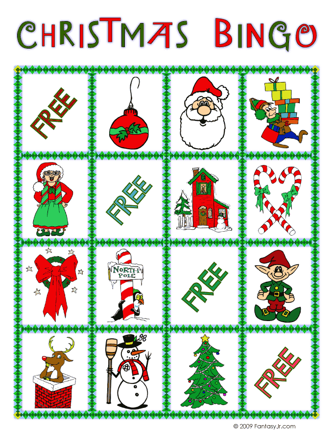picture relating to Christmas Bingo Card Printable identify Xmas Bingo Card 2 Woo! Jr. Little ones Pursuits