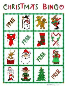 christmas bingo card 3 - Printable Christmas Bingo
