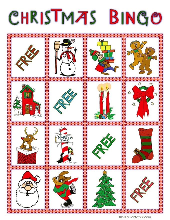 christmas bingo card 5 - Christmas Bingo