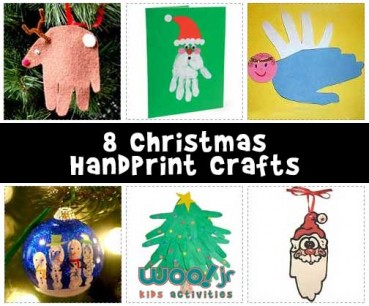 Easy Christmas Handprint Crafts