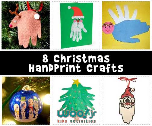 8 Christmas Handprint Crafts