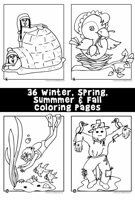 - Winter, Spring, Summer And Fall Coloring Pages Woo! Jr. Kids Activities
