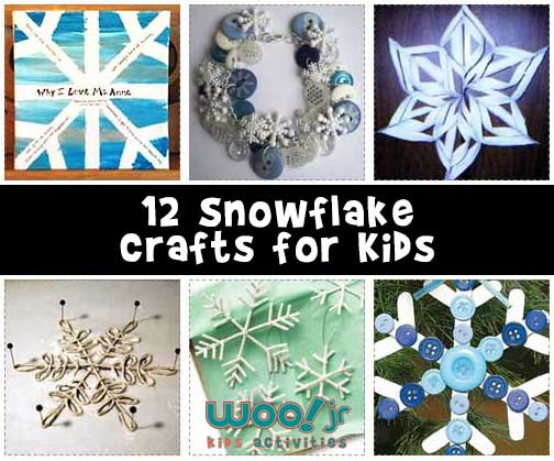 12 Snowflake Crafts for Kids