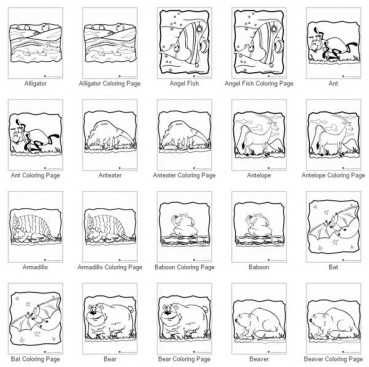 100 Animal Coloring Pages