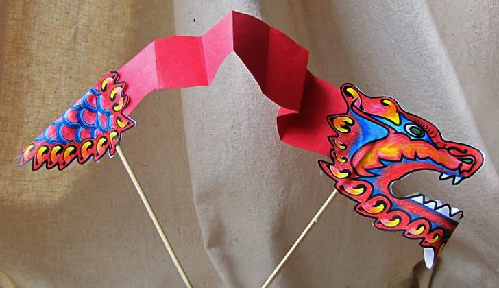 Chinese Dragon Paper Puppet
