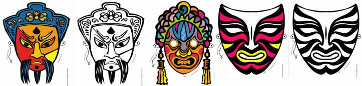 Printable Masks for Carnival, Halloween, Mardi Gras and History Lessons