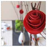 Paper Roses on Sticks